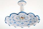 lampadario smerlato con braccio in ceramica decoro caty